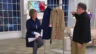 Isaac Mizrahi Live! Water Resistant Trench Coat w/ Printed Lining on QVC