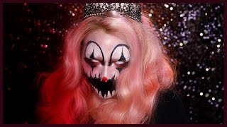 CREEPY KILLER CLOWN Halloween Makeup Tutorial