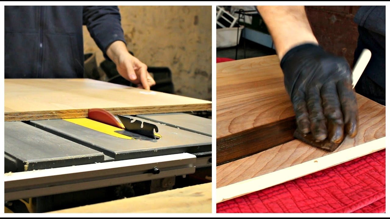 Make A Simple Small Tabletop   Using Birch Plywood, Edge Banding, Gel  Stain, Lacquer Toner