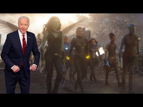 Biden Tries to Recreate All-Female Avengers Scene