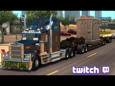 American Truck Simulator Day 26 | Heavy Cargo Elko To Arizona Part 1 | Twitch Live Stream