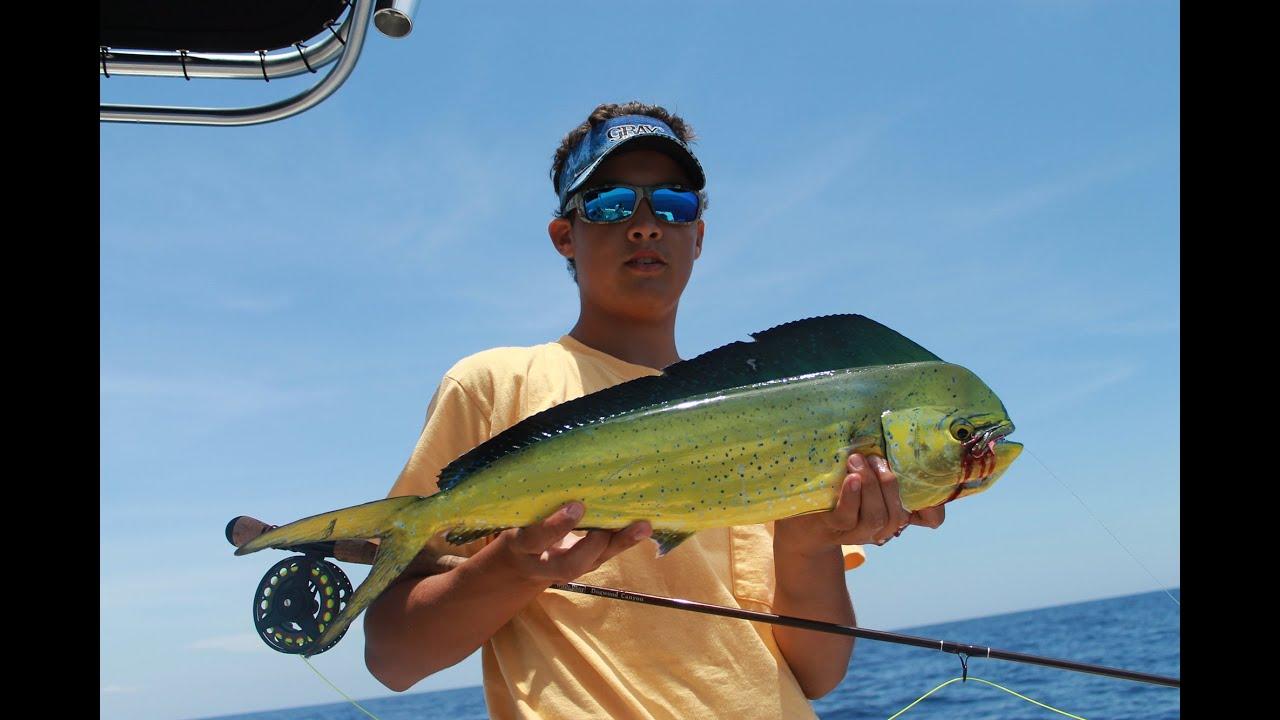 Fly fishing for mahi mahi or dolphin youtube for Mahi mahi fish
