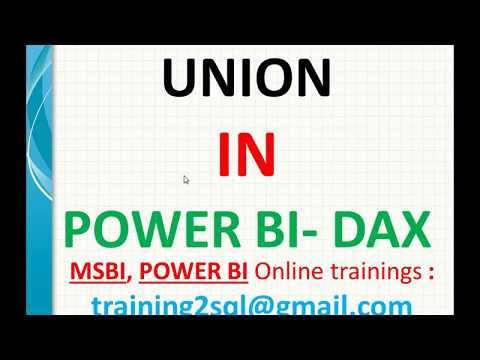 Union In Power BI | Union In DAX | Append Tables Using Dax