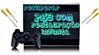 Como Recuperar Playstation 3 com erro de Restauração infnito  dados comropidos no Hd