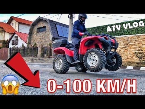 CAT DE RAPID ESTE ATV-UL? TEST 0-100 KM/H | Yamaha Grizzly 700 EPS 48cp