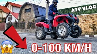 CAT DE RAPID ESTE ATV-UL? TEST 0-100 KM/H | Yamaha Grizzly 700 EPS 48cp