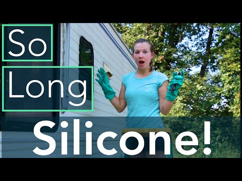 Exterior RV Caulk Removal | Never Use Silicone Sealant!
