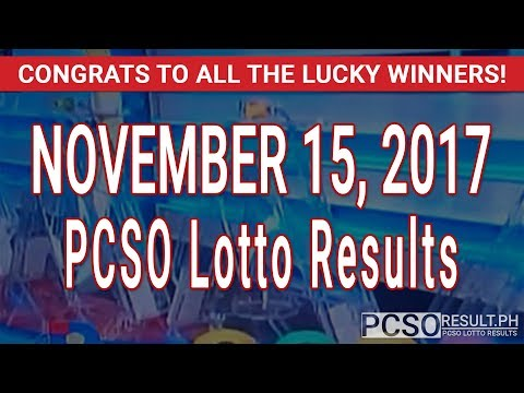 PCSO Lotto Results Today November 15, 2017 (6/55, 6/45, 4D, Swertres & EZ2)