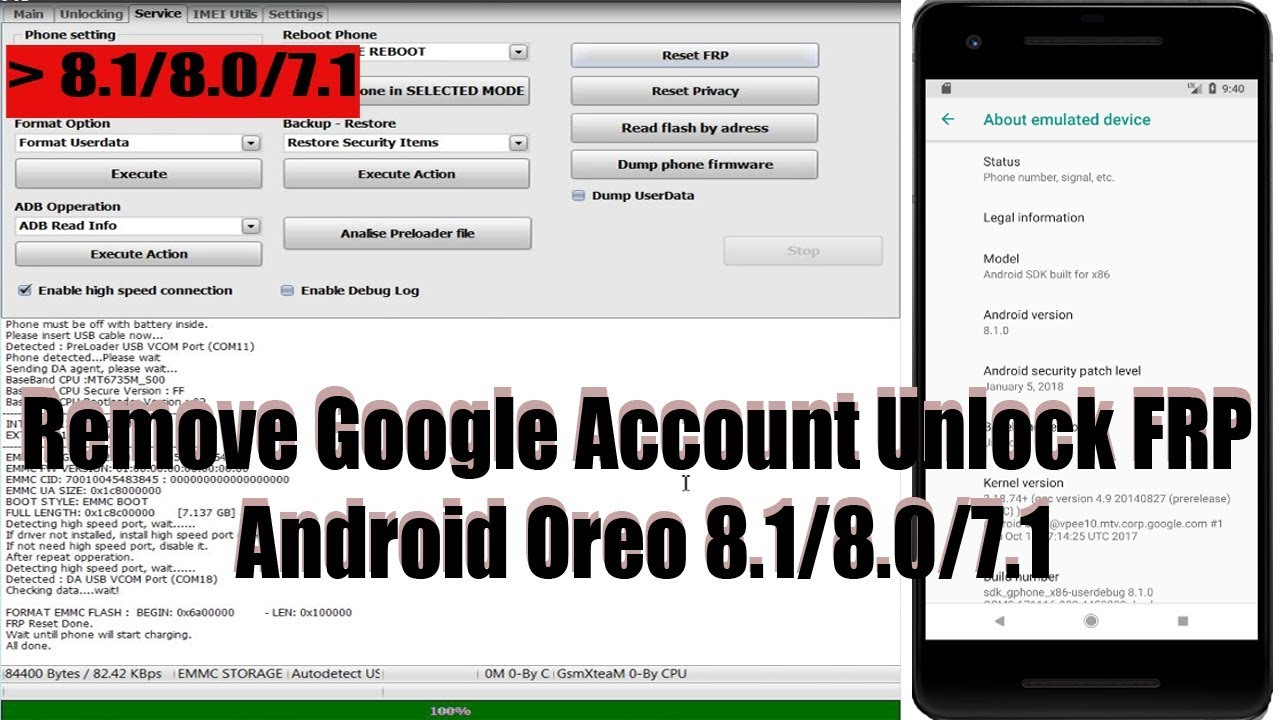 Huawei/Vivo/Oppo Remove Google Account Unlock FRP Android