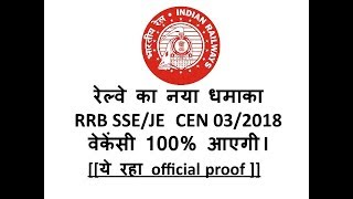 RRB SSE & JE (RRB CEN. 03/2018 Vacancy) 2017 Video