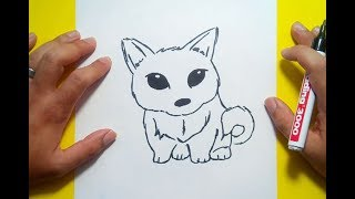 Como dibujar un perro paso a paso 40 | How to draw a dog 40