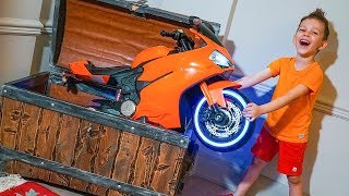 Tema ride on Sportbike Tractor and Play with Magic Toys
