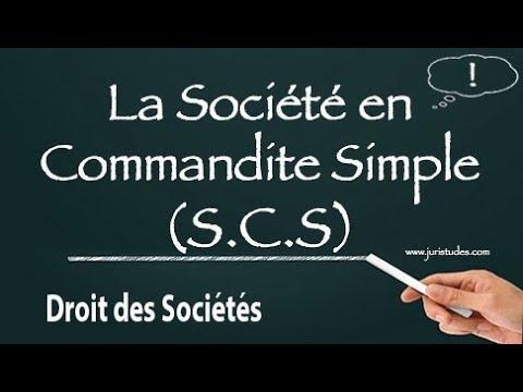 La société en commandite simple (SCS) : Droit des sociétés