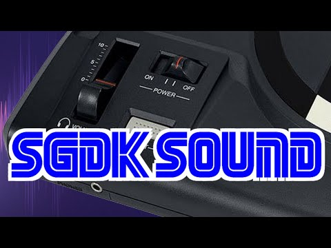 What sound drivers are available in the Sega Genesis / Mega Drive SGDK and how do I use them?