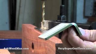 Sharpening A Small Drill Bit With A Plywood Jig