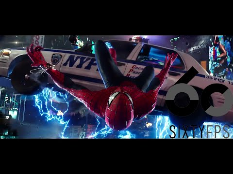 [60FPS] Spider Man vs  Electro  Times Square Battle  60FPS HFR HD