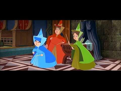 Sleeping Beauty (1959) Scene: Maleficent's Curse.