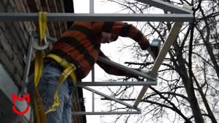 Остекление балкона с крышей(, 2016-05-11T15:17:50.000Z)