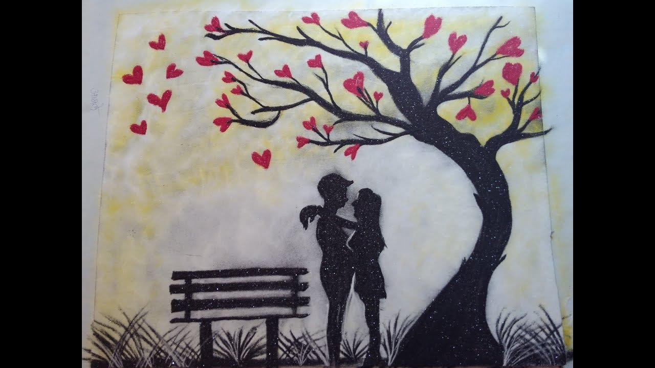Beautiful Love Poster Rangoli Design Youtube