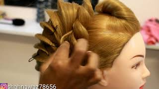 Advance French roll hair style || shaan creative academy