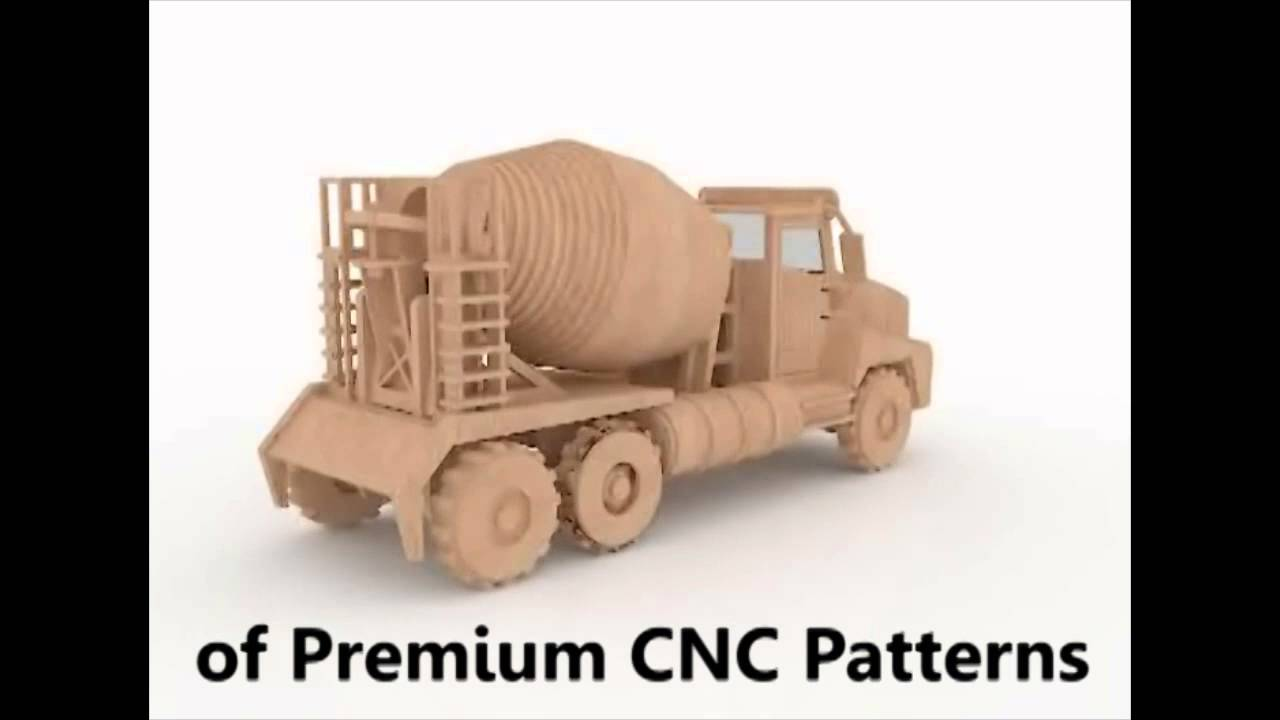 Cement Truck 3d Puzzle Cnc Router Laser Pattern Youtube
