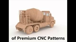 Cement Truck 3d Puzzle Cnc Router Laser Pattern