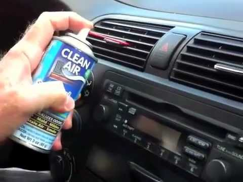 Clean Air Duct Treatment - How to chemically neutralize odors in your car
