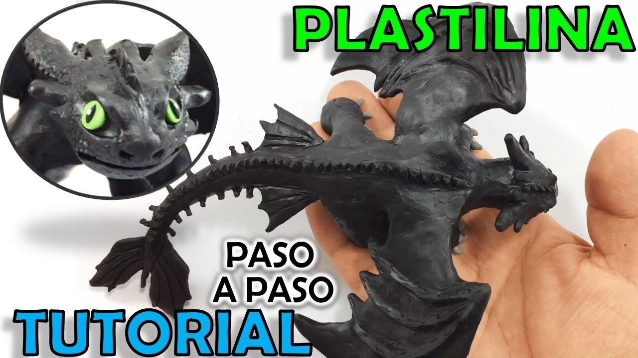 Como hacer un dragon chimuelo de plastilina paso a paso mi - Como hacer un estor enrollable paso a paso ...