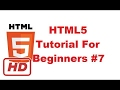 [HTML5 tutorial] HTML5 Tutorial For Beginners 7 #  HTML Link tag