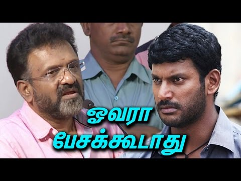 ஓவரா பேசக்கூடாது  | T Siva Advice To Actor Vishal | Producer Council Election