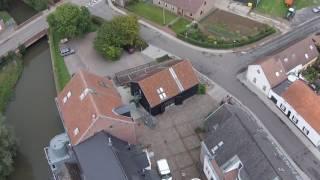Ecocopter bezoekt Molen van Rotselaar