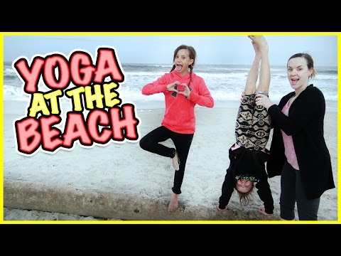 GYMNASTICS AND YOGA AT THE BEACH 👡AND GETTING NEW SHOES