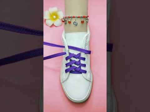 Shoes lace style 2021 for girl/wonen #shorts #shoeslaces #tyingshoes  #trendingshoes