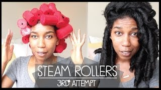 Steam Rollers on Natural Hair | 3rd Attempt - Naptural85