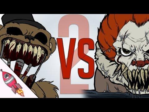 FNAF 6 Pizzaria Simulator vs IT Movie Rap Song  Freddy VS Pennywise Part  2  Rockit Gaming