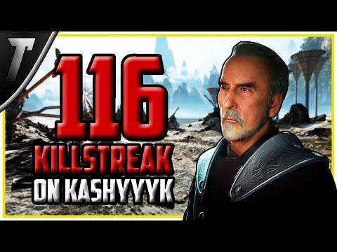 WORLD RECORD: 116 Count Dooku Killstreak - Star Wars Battlefront 2 Gameplay thumbnail