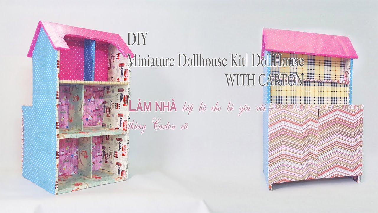 DIY – Nhà búp bê bằng giấy Carton