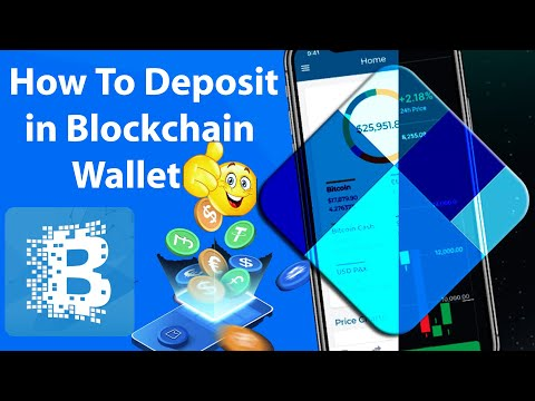 How To Deposit In Blockchain Account   Add Fund Crypto Into Blockchain