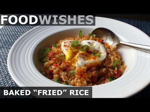 "Baked ""Fried"" Rice - Easy Fried Rice in the Oven - Food Wishes"