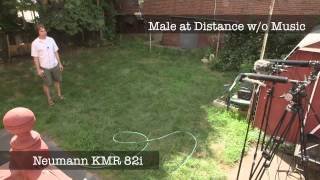 distance mic without music sound test