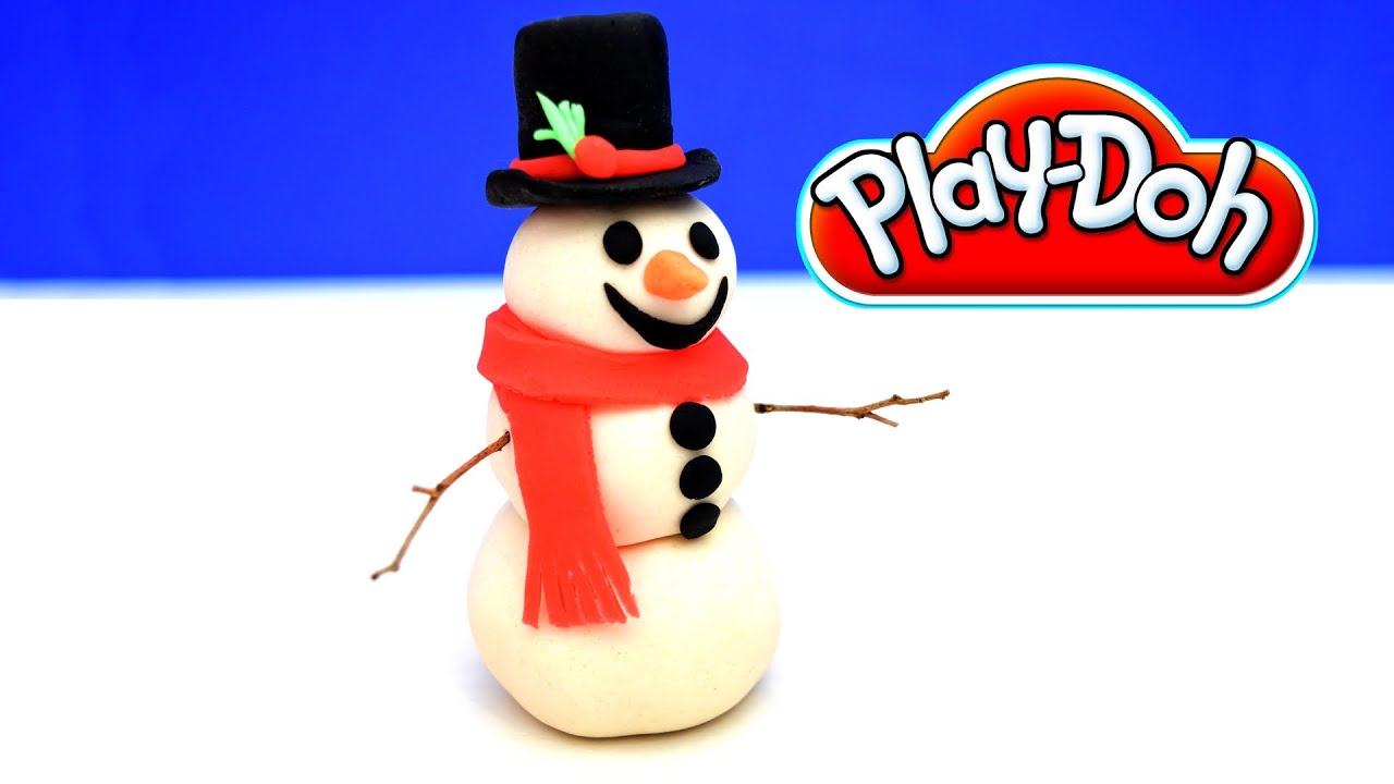 How to make a play doh snowman youtube for How to create a snowman