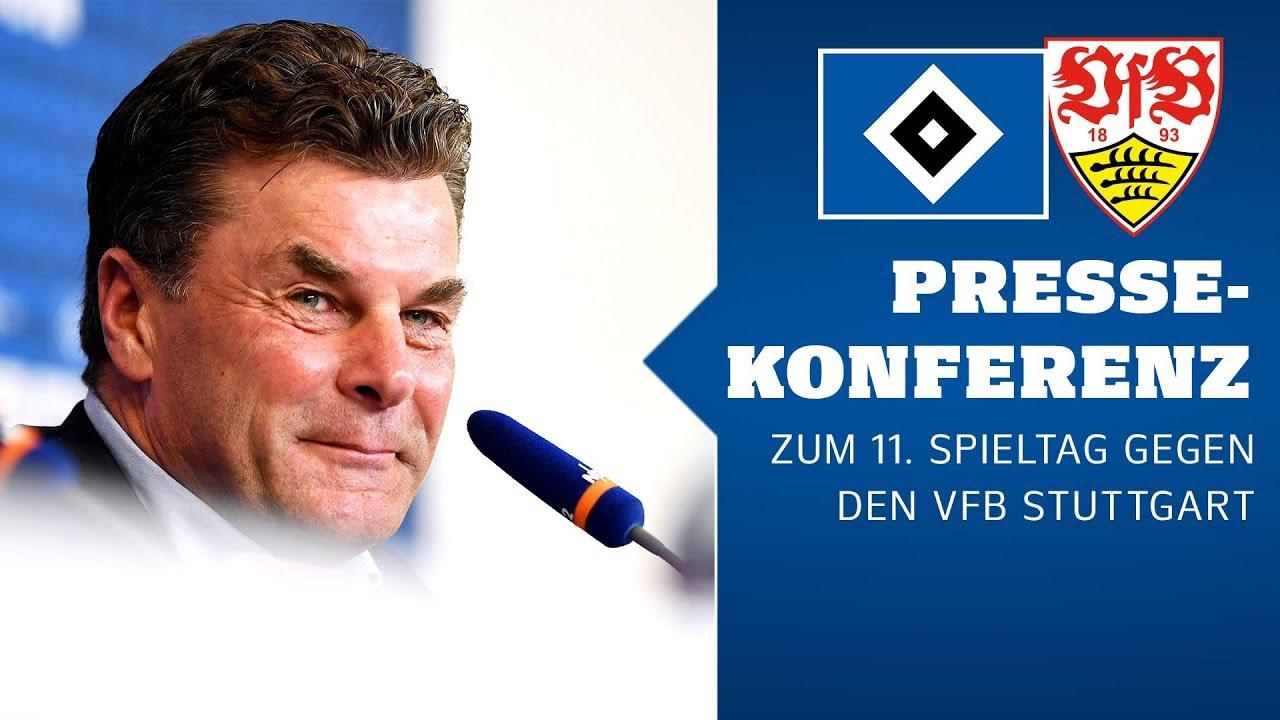 Die Pressekonferenz vor dem Heimspiel gegen den VfB Stuttgart
