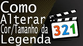 Como ALTERAR tamanho e cor da 'LEGENDA' no Media Player Classic