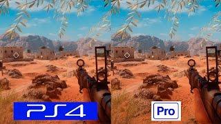 Battlefield 1 | PS4 VS PS4 PRO | COMPARISON | Comparativa