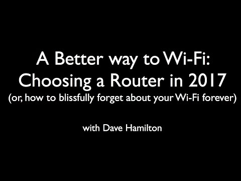 Dave Hamilton speaks to CMC Apple User Group on Choosing a Wi-Fi Router