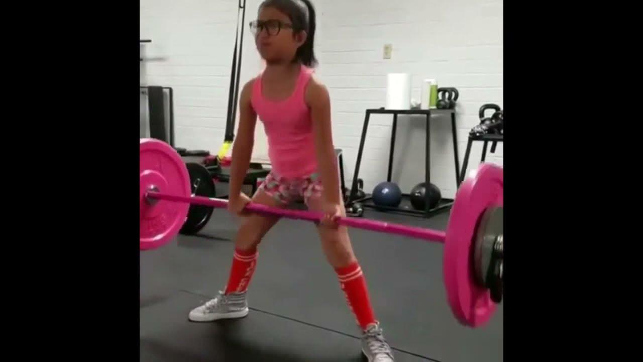Image result for little girl weightlifter