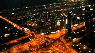 Burj Khalifa - widok na miasto nocą