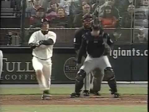 J.T. Snow homerun and Greg Colbrunn gives Reggie Sanders a triple stank eye