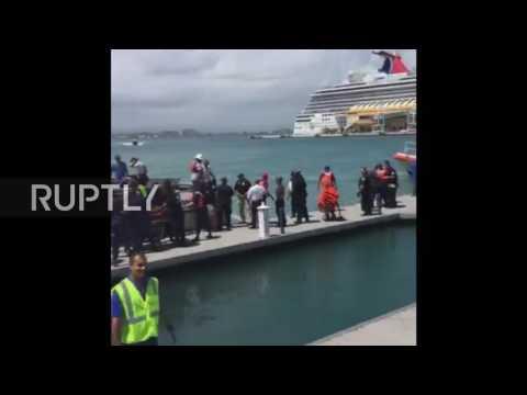 Puerto Rico: Hundreds rescued from burning cruise ship near San Juan