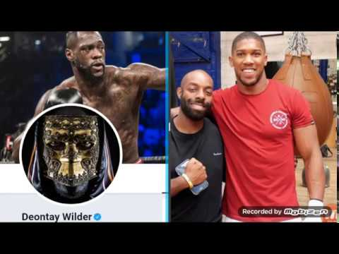 FANS REACT!!! ANTHONY JOSHUA DUCKS DEONTAY WILDER! NO SMOKE IN SEPTEMBER